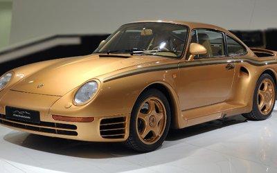 Porsche 959 realizzata in oro per ...