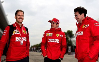 Vettel e Leclerc richiamati da Binotto